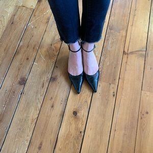 D'orsay kitten heels